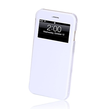 GelGrip iPhone 6 Flip Case with Viewing Window, White
