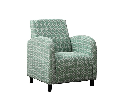 Monarch Specialties Inc. I 8043 Fabric Accent Chair, Faded Green
