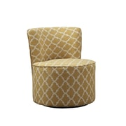 Monarch Specialties Inc. I 813 Fabric Accent Chair with Swivel Base