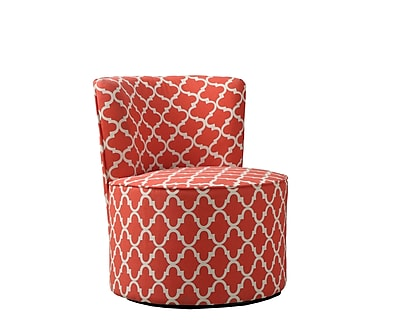 Monarch Specialties Inc. I 8132 Fabric Accent Chair with Swivel Base, Red