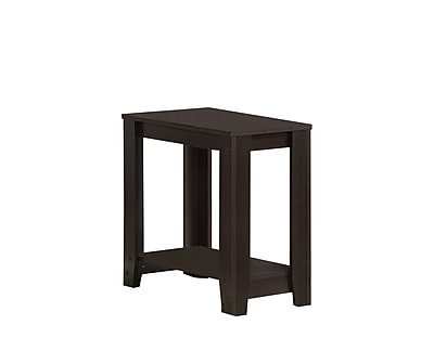 Monarch Specialties Side Table, Cappuccino, Each (I 3119)
