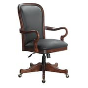 DMI Leather Executive Office Chair, Fixed Arms, Cherry (6000-841)