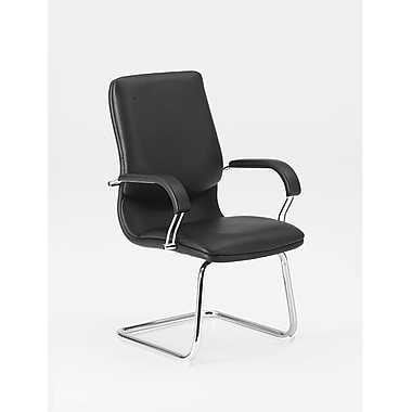 DMI Office Furniture Lotus 606082 Synthetic Leather Guest Chair, Black