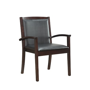 DMI Office Furniture Bently 61332012 Faux Leather Guest Chair, Mocha