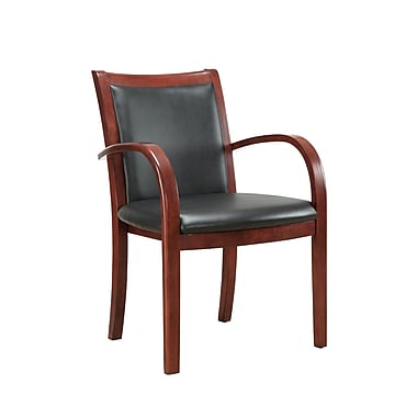 DMI Office Furniture Bently 65012002 Faux Leather Guest Chair, Cherry