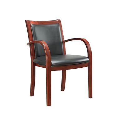 DMI Office Furniture Bently 65012004 Faux Leather Guest Chair, Bronze Cherry