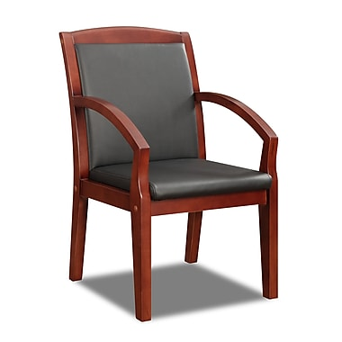DMI Office Furniture Bently 65102014FP Fabric Guest Chair, Mahogany