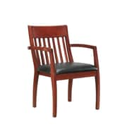 DMI Office Furniture Bently 65202004 Faux Leather Guest Chair, Cherry