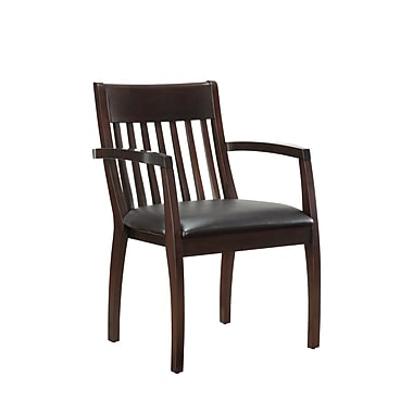 DMI Office Furniture Bently 65202012 Faux Leather Guest Chair, Mocha