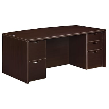 Fairplex Fairplex 71'' Rectangular Laminate Contemporary Executive Desk, Mocha (7004-37)