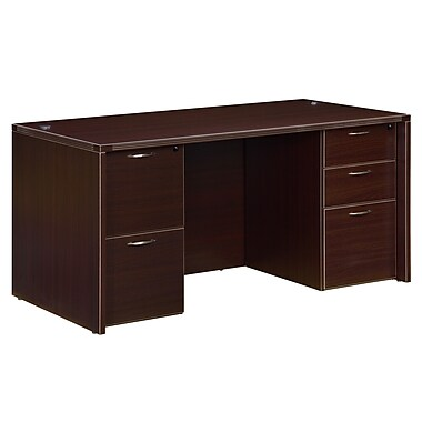 Fairplex Fairplex 60'' Rectangular Laminate Contemporary Executive Desk, Mocha (7004-30)