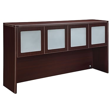 DMI Office Furniture Fairplex 7004428FG 4-Door Overhead Storage, Frosted Glass Doors