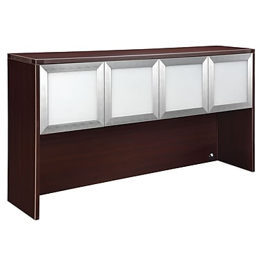 DMI Office Furniture Fairplex 7004429WG 4-Door Overhead Storage, Mocha