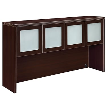 DMI Office Furniture Fairplex 7004928FG 4-Door Open Overhead Storage, Frosted Glass Doors