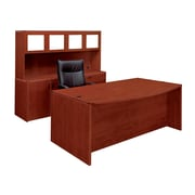Fairplex Fairplex 71'' Rectangular Laminate Contemporary Executive Desk, Cognac Cherry (7005-901G)