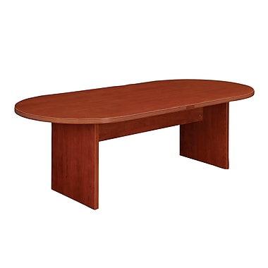 dmi office furniture fairplex 71'' oval conference table, cognac