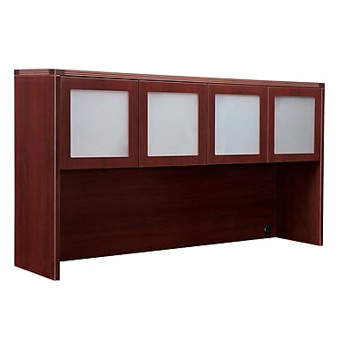 DMI Office Furniture Fairplex 7006428FG 2 Cabinet Overhead Storage, Frosted Glass Doors
