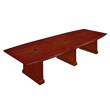 DMI Office Furniture Belmont 42'' Boat Conference Table, Brown Cherry (7132-144EX)