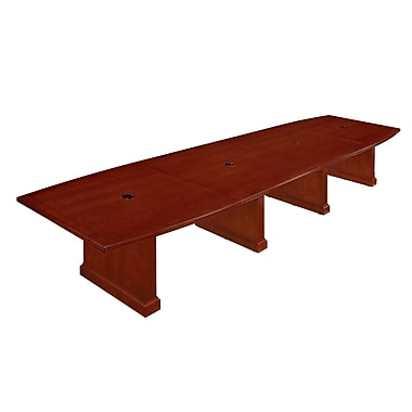 DMI Office Furniture Belmont 42'' Boat Conference Table, Cherry (7132-192EX)