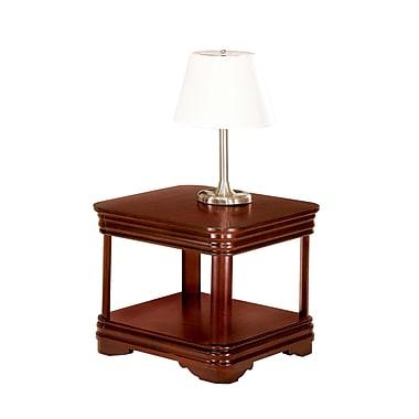 DMI Rue de Lyon Wood/Veneer End Table, Brown, Each (7684-10)