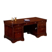 "DMI Office Furniture Rue de Lyon 30"" Executive Desk, Chocolate Patina Veneer (768436A)"
