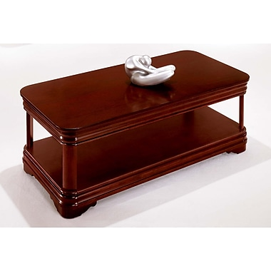 Rue de Lyon Rue Wood/Veneer Coffee Table, Brown, Each (7684-40)