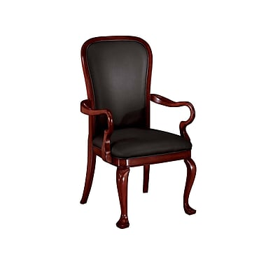 DMI Office Furniture Rue de Lyon 7684851 Leather Guest Chairs, Chocolate Patina