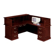 "DMI Office Furniture Governors 735066 44"" Laminate Right Reception L Desk, Mahogany"