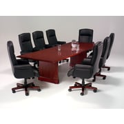 "DMI Office Furniture Governors 30"" x 120"" x 46"" Laminate Rectangular Conference Table with Slab Ends (735095)"