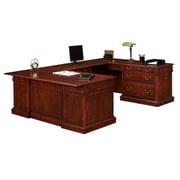 "DMI Office Furniture Keswick 7990537 30"" Wood/Veneer Right Lateral File U Desk, English Cherry"
