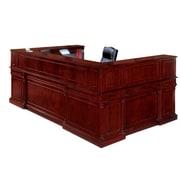 "DMI Office Furniture Keswick 799068 44"" Wood/Veneer Right Reception U Desk, English Cherry"