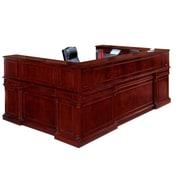 "DMI Office Furniture Keswick 799069 44"" Wood/Veneer Left Reception U Desk, English Cherry"