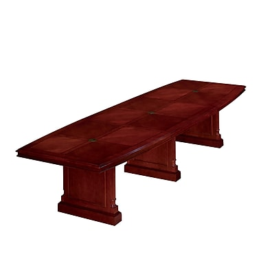 DMI Office Furniture Keswick 144'' Boat Conference Table, Cherry (7990-144EX)