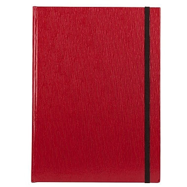 Markings Large Textured Journal, Red
