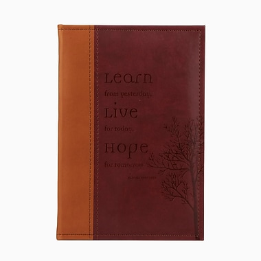 Markings Debossed Inspiration Journal, Learn Live Hope