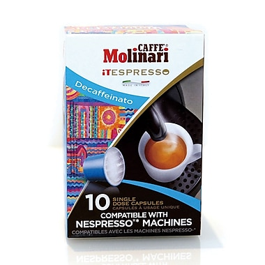 Caffe Molinari Caffe Molinari iTespresso, Decaf, 120/Pack