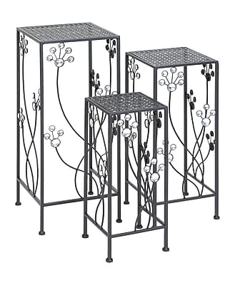 Woodland Imports 3 Piece Plant Stand Set