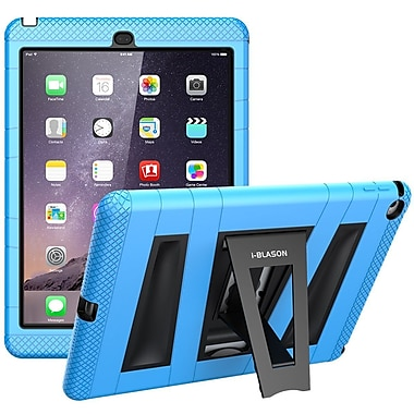 i-Blason Armorbox 2 Layer Full-Body Protection KickStand Case For iPad Air 2, Blue/Black
