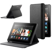 """SUPCase Slim Lightweight PU Leather Hard Shell Case For 7"""" Amazon Kindle Fire HD, Black"""