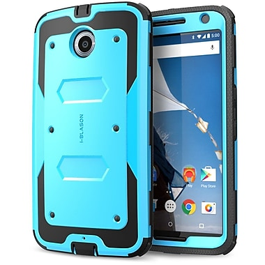 i-Blason Armorbox Dual Layer Hybrid Protective Case For Google Nexus 6, Blue/Black