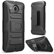 i-Blason Prime Dual Layer Holster Case For Google Nexus 6, Black/Black