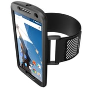 SUPCase Easy Fitting Sport Case and Armband Combo For Google Nexus 6, Black/Black
