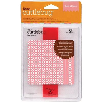 Cuttlebug A2 Embossing Folder, Hugs & Kisses