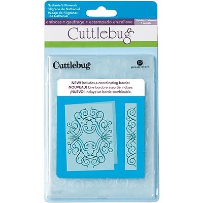 Cuttlebug Embossing Folder & Border, Nathaniel's Penwork