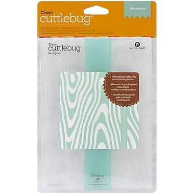 Cuttlebug Embossing Folder & Border, Woodgrain