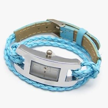 Best Desu Handmade Leather Bracelet Watch, Blue