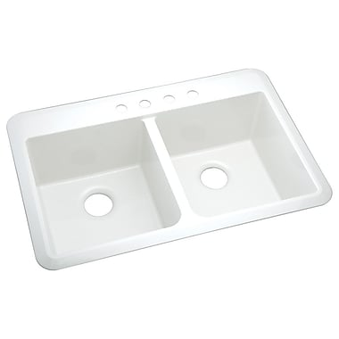 Sterling by Kohler Vikrell Slope 33'' x 22'' Undermount/Self Rimming Double Equal Bowl Kitchen Sink