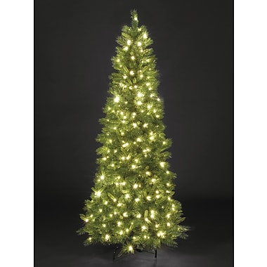 Hometime Snowtime 6.6' Green Pre-Lit New England Pine Artificial Christmas Tree w/ 350 Clear Lights