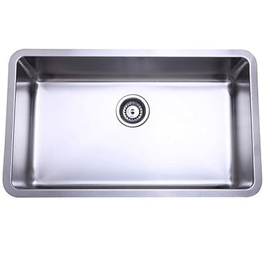 Elements of Design 30.13'' x 17.88'' x 10'' Undermount Single Bowl Kitchen Sink