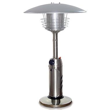 Garden Radiance 11,000 BTU Propane Tabletop Patio Heater; Stainless Steel